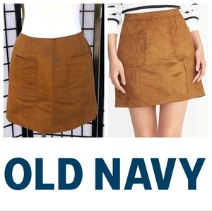 Old Navy Faux Suede Mini Skirt with Pockets